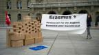 Die Schweizerische Arbeitsgemeinschaft der Jugendverbände SAJV/CSAJ überreichte der Regierung am 3. April 2014 einen Brief zum Erhalt von Erasmus+.