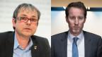 Philipp Hadorn, SP-Nationalrat (links) und Thomas Aeschi, SVP-Fraktionschef.