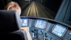 Testfahrt eines Schnellzuges mit neuem Assistenzleitsystem für Lokführer am 5. Dezember 2017, auf der SBB-Bahnstrecke zwischen Bern und Olten.