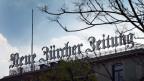 Blick auf auf die Fassade des Verlags Neue Zürcher Zeitung, an der Falkenstrasse in Zürich.