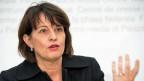 Die Bundespräsidentin Doris Leuthard an der Medienkonferenz zur «No Billag»-Initiative.