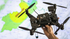 Das Bild zeigt eine Drohne.