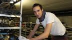 Der Gründer des Walliser Start Ups «Alpine Blockchain» Ludovic Thomas. Bild: Priska Dellberg/SRF.