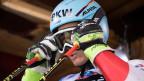 Nils Mani aus der Schweiz bereitet sich auf ein Trainingsrennen vor am 10. Januar 2018.