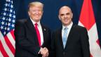 US-Präsident Donald Trump (links) und Bundespräsident Alain Berset am WEF in Davos.