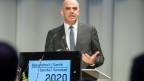 Alain Berset an der nationalen Gesundheitskonferenz.