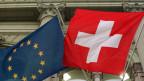 Fahnen Europa und Schweiz