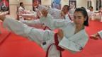 Mariella Heiligers übt sich in ihrem Lieblingssport Taekwondo, ein sehr koreanischer Sport.