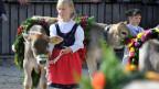 Kinder an der Olma in St. Gallen.
