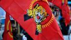 Angehörige von Tamil Tigers demonstrieren zum Prozessauftakt am 8. Januar 2018 in Bellinzona.