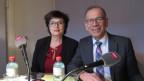 Das Bild zeigt SP-Ständerätin Anita Fetz und SVP-Ständerat Hannes Germann im SRF-Studio.