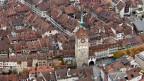 Die Altstadt von Aarau mit dem Obertorturm. Aarau fusionierte mit der Gemeinde Rohr.