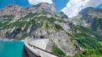 Der Staudamm Gigerwald im Kanton St. Gallen. Das Wasser des Stausees wird von der NOK zur Stromerzeugung genutzt.