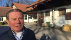 Ernst Vögeli beim nationalen Pferdezentrum in Avenches.