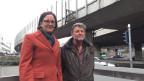 Veronika Röthlisberger und Bruno Keller an der Osttangente.