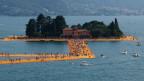 Die «Floating Piers» der Künstler Christo und Jeanne-Claude am Iseosee, Italien.