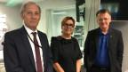 Zu sehen sind von links nach rechts Carlo Schmid, Cécile Bühlmann und Thomas Meier.