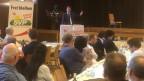 SVP-Parteipräsident Rösti spricht als Gastreferent bei der Bezirkspartei.