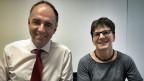 Brigitte Wolf, Biologin Brigitte Wolf, Präsidentin der VCS-Sektion Oberwallis und und der Wallliser Staatsrat Christophe Darbellay.