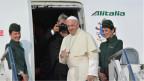 Papst Franziskus in Genf eingetroffen.