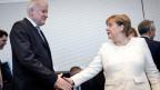 Horst Seehofer und Angela Merkel.