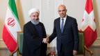 Hassan Rohani, iranischer Präsident und Alain Berset, Bundespräsident.