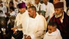 Rund 500 christlich-orthodoxe Eritreer feiern in der Elisabethkirche in Basel einen gemeinsamen Gottesdienst.
