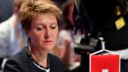 Die Leiterin des Eidgenössischen Justiz- und Polizeidepartements, Simonetta Sommaruga, am informellen Treffen der Justiz- und Innenminister in Innsbruck.