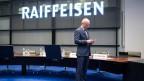 Raiffeisen-Chef Patrik Gisel gibt seinen Posten auf Ende 2018 auf.