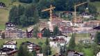 Blick auf die Baustelle des Swiss Alp Resort in Grindelwald im Berner Oberland, aufgenommen am 30. Juni 2008.