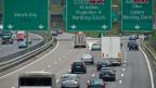 Autobahnnetz in der Schweiz.