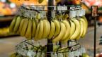 Biobananen in einem Grossverteiler.