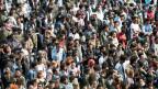 Eritreische Flüchtlinge demonstrieren und reichen eine Petition für eine humanere Flüchtlingspolitik ein. Bern, 18. Mai 2018.