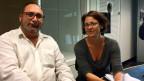 Fino Winter, Präsident von «Sinti Schweiz» und Katrin Rieder, Projektleiterin der Ausstellung «Latscho Diwes – Sinti, die unbekannteste Minderheit der Schweiz».