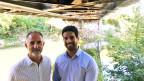 Prof. Dr. Masoud Motavalli (links) und Dr. Elyas Ghafoori (rechts). Er hat das neue System zur Brückenstabilisierung entwickelt. Bild: Christian von Burg.
