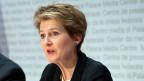 Die Bundesrätin Simonetta Sommaruga eröffnet den Abstimmungskampf gegen die «Selbstbestimmungs-Initiative»..