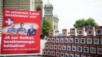 Einreichung der Selbstbestimmungsinitiative «Schweizer Recht statt fremde Richter» der SVP, am 12. August 2016, in Bern.