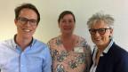 Simon Hodel, Mitgründer DocsVisit (li.), Gertrud Kormann, bisheriges Mitglied der GL Heime Uster (re.) und ihre Nachfolgerin Annette Hefti.