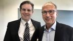 Franc Kaiser (links), Schweizer Unternehmensberater in Shanghai und Markus Braun, Finanz- und Management-Dozent an der Zürcher Hochschule für angewandte Wissenschaften.