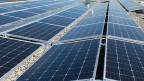 Solaranlage auf einem Dach.