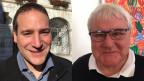 Der berntreue Patrick Tobler (li.) und der bisherige projurassische Stadtpräsident Marcel Winistoerfer.
