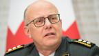 Philippe Rebord, Chef der Armee spricht an einer Medienkonferenz zur Armeebotschaft 2018, am 14. Februar 2018, in Bern.
