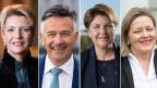 Karin Keller-Sutter und Hans Wicki von der FDP; Viola Amherd und Heidi Z'graggen von der CVP (von links).