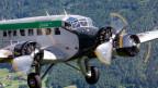 Undatierte Aufnahme eines JU-52-Flugzeugs der JU-AIR in der Luft.
