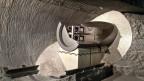 Modell für die Lagerung von radioaktiven Brennstäben im Felslabor der Nagra im Grimsel BE.