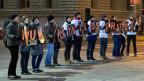Fotografinnen und Fotografen demonstrieren vor der Debatte zur Änderung des Urheberrechtsgesetzes im Nationalrat.