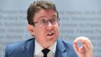 SVP-Parteipräsident Albert Rösti spricht über das Parteiprogramm der SVP 2019-2023 in Bern.