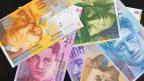 Symbolbild. Schweizer Banknoten.