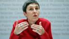 Barbara Gysi, Nationalrätin SP-SG und Vizepräsidentin der SP Schweiz, an einer Medienkonferenz über die Verbilligung der Krankenkassenprämien.