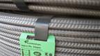 Betonstahl-Armiereisen der Stahl Gerlafingen AG in der Produktionsstätte in Gerlafingen, Kanton Solothurn.